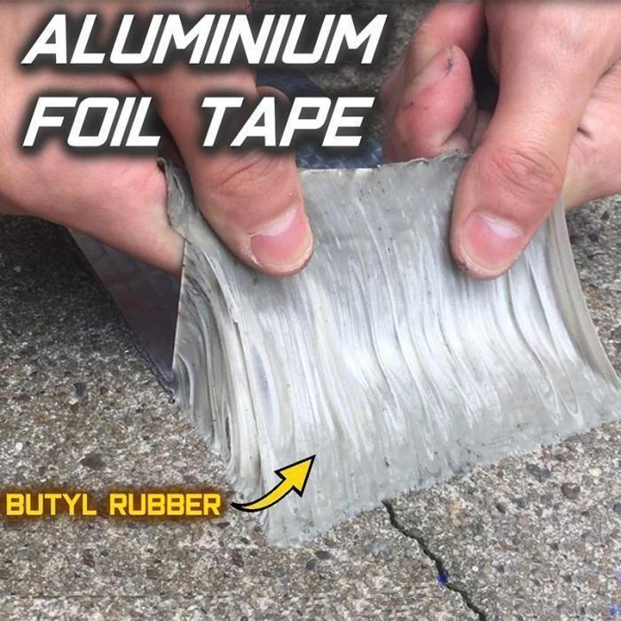 Aluminum Foil Butyl Waterproof Tape 1mm Thick Rosamiss Lamina De Aluminio Limpiar Azulejos Del Bano Consejos De Limpieza De Bano