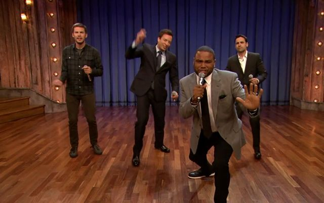 History of TV Theme Songs with Jimmy Fallon & Guys With Kids Cast