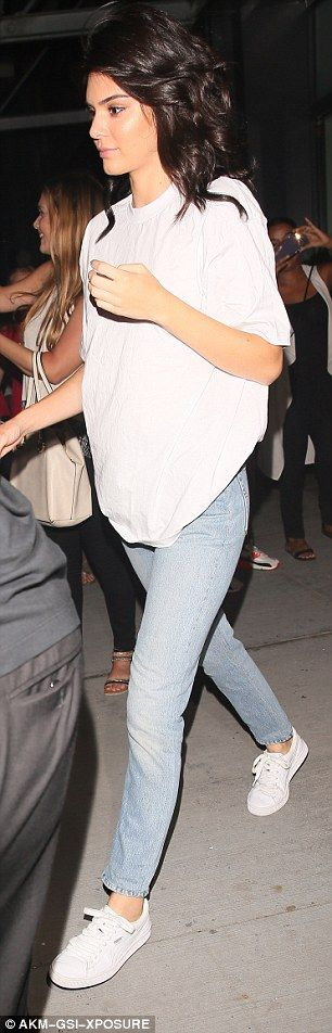 Dressed down: She went casual after the fashion show