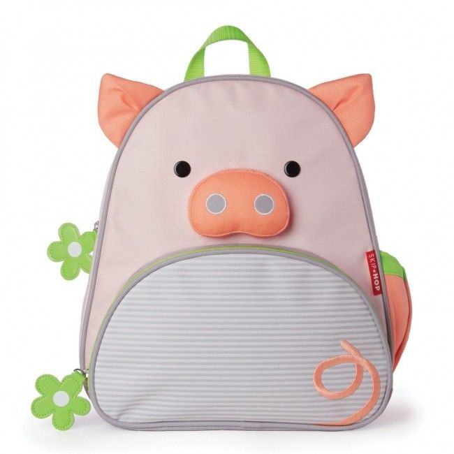 Mochila Infantil Espaçosa Zoo Skip Hop - Peyton Pig, a Porquinha