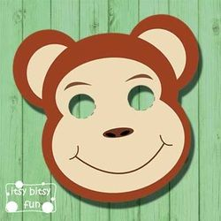 printable monkey masks templates free photo props pinterest