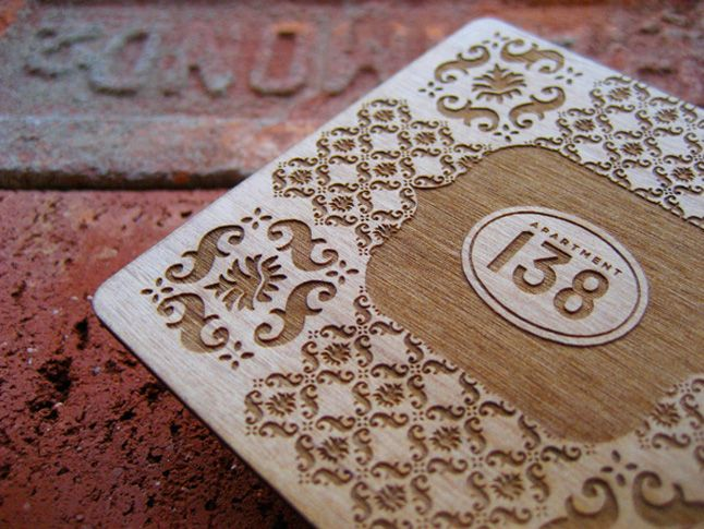 Wood laser cut by givalope