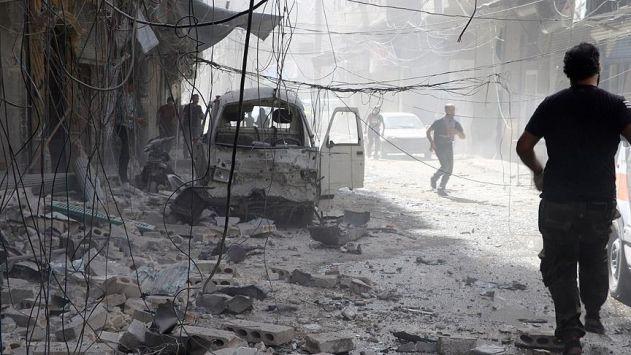 Suriye'de varil ve vakum bombalı saldırı