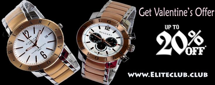 Get Offer on Buy a Pair of Branded Watches @ Eliteclub on this Valentine day Branded watches @ upto 20% discount   Put your whatsapp number to get direct discount details on your number. Visit our website to : www.eliteclub.club