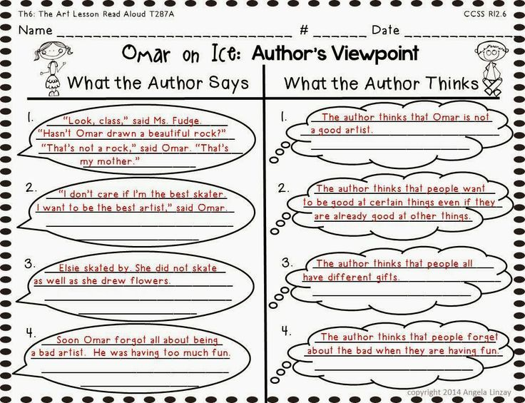 Image result for author's viewpoint passages 4th grade