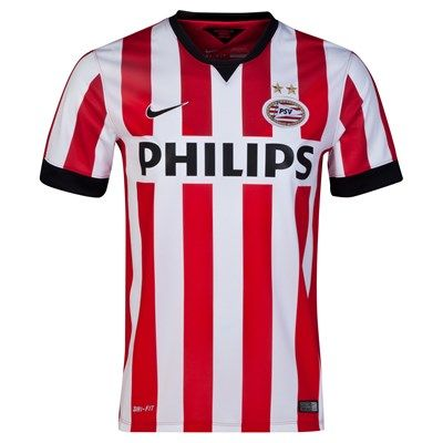 PSV 2014/2015 Home Shirt (Red/White). Available from Kitbag.com