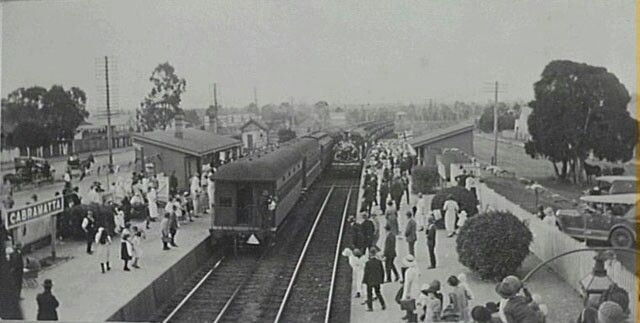 Cabramatta Railway Station, Cabramatta is a south western suburb of Sydney, NSW. (Photo undated) v@e