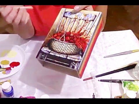 "Декупаж  ✿ Декор шкатулки  ✿  Техника ""градиент""  ✿ Мастер-класс   Виктории Пановой - YouTube"
