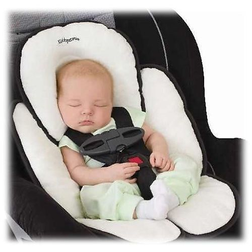 #Kiddopotamus #Snuzzler Complete Head and Body Support, Ivory #Terry   great for the running stroller   http://amzn.to/HmB4dV
