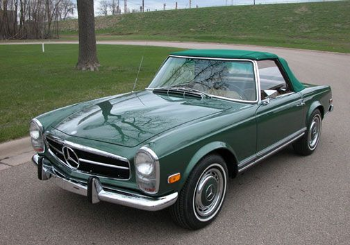 Mercedes 280SL Roadster | W113 | Pagoda SL in the rare Moss Green Metallic color