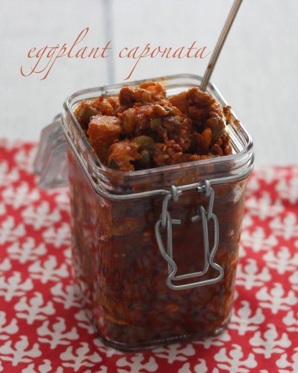 eggplant caponata | a cup of mascarpone. No raisins or chocolate