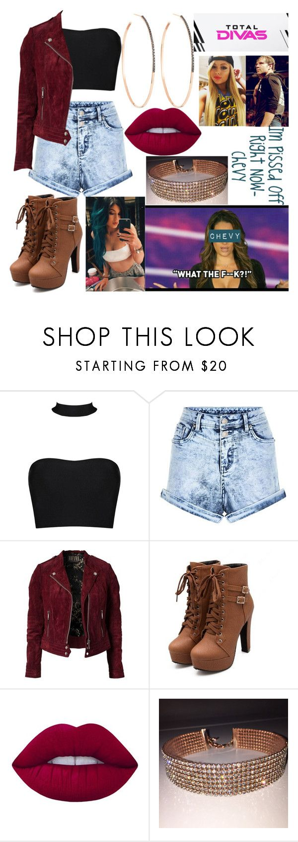 """Chevy's Interview with Total Divas"" by amesqueda ❤ liked on Polyvore featuring Jofama, Lime Crime, Lana and TNA"