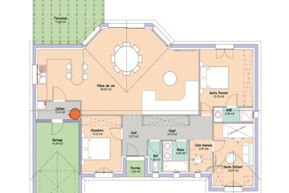 plan maison horizon MCA Architecture Pinterest