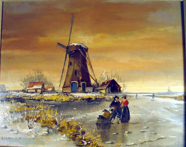 8 best windmill images on Pinterest | Windmills, Oil on ... Dutch Windmill Painting