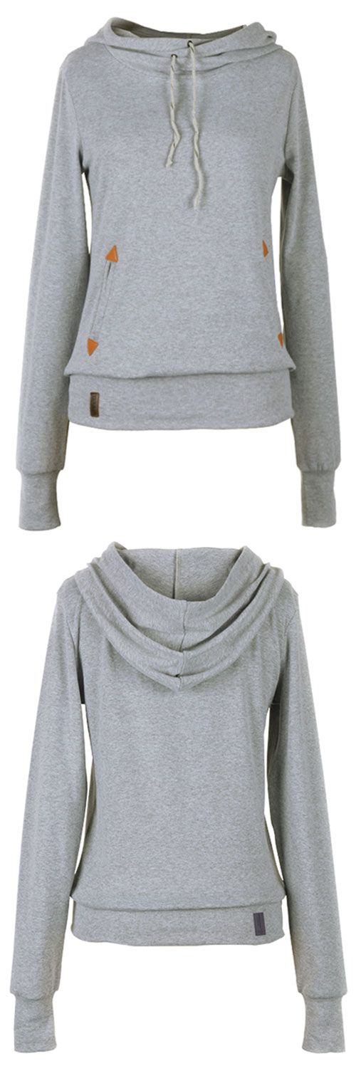 Oh, I like the sweatshirt with drawstring detailing & lovely pocket. Wow, $23.99! So cute!! Look more hot items at Cupshe.com