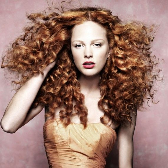 Red curly hairstyle-hair-hairstyles-autumn winter hairstyles-beauty-woman and home