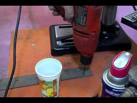 How to drill Stainless Steel  w/ cheap tools and minimal supplies