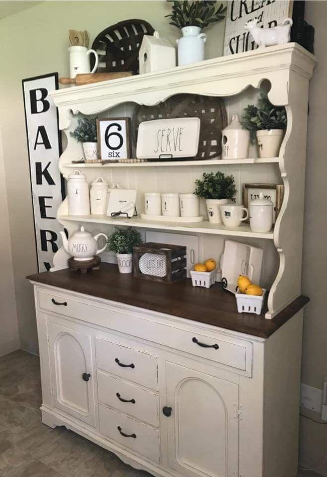 Farmhouse Kitchen Hutch Cabinet
