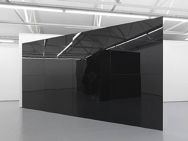 Black window. Dark glass.