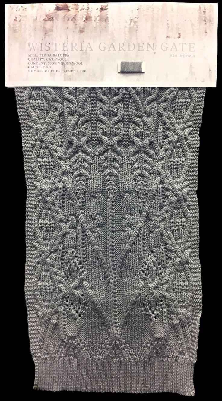 Designer: Kim Inenaga: knitGrandeur: FIT & Baruffa Collaboration 2017: Linear Stitch Design Project Featuring Cashwool