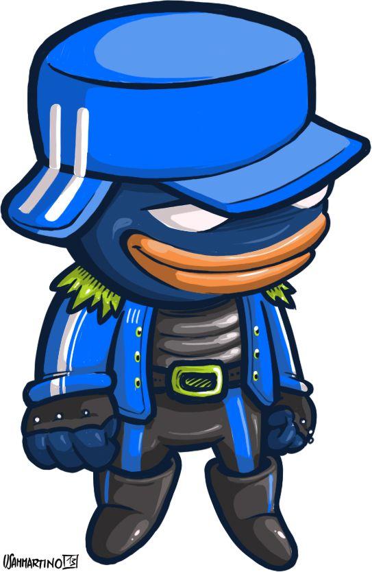 """Biondo"", very very bad cop. #biondo #character #illustration #cop #cops #digital #painting #umberto #sammartino"