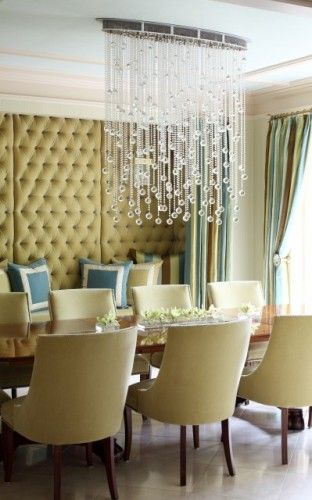 Contemporary Dining Room By Tobi Fairley Interior Design With Upholstered  Wall.