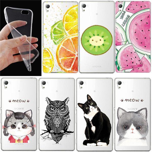 Przypadki telefonów dla sony xperia z z1 z2 z3 z3 z4 z5 mini kompaktowy c5 aqua t3 z5 plus m4 m5 transparent wyczyść miękka tpu gel pokrywa