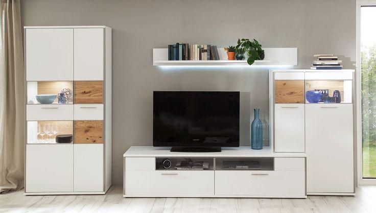 die besten 25 wohnwand weiss ideen auf pinterest fu b den holzfu boden und handwerker eigenheim. Black Bedroom Furniture Sets. Home Design Ideas
