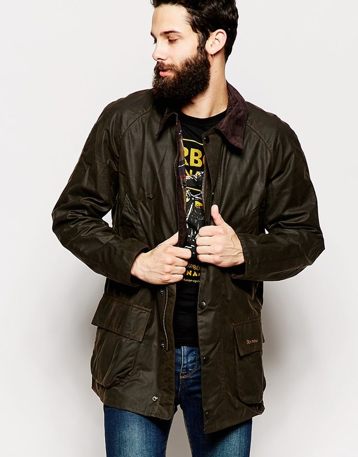Image 1 ofBarbour Bristol Wax Jacket