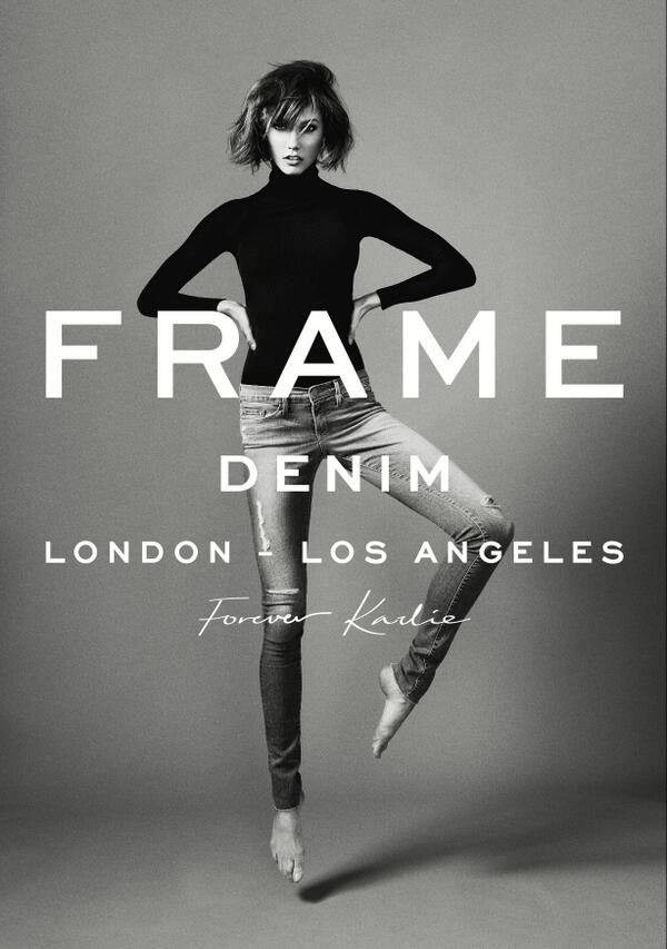 Karlie Kloss with FRAME Denim LOVE