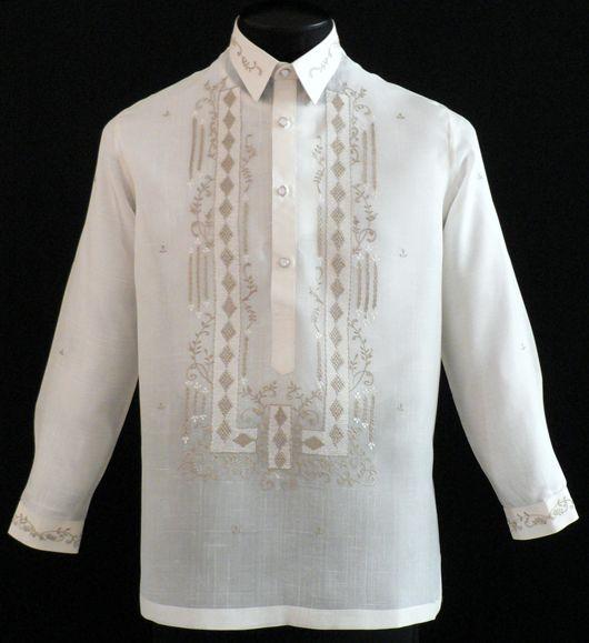 Pi a jusi barong tagalog 2042 barong for Barong tagalog wedding dress