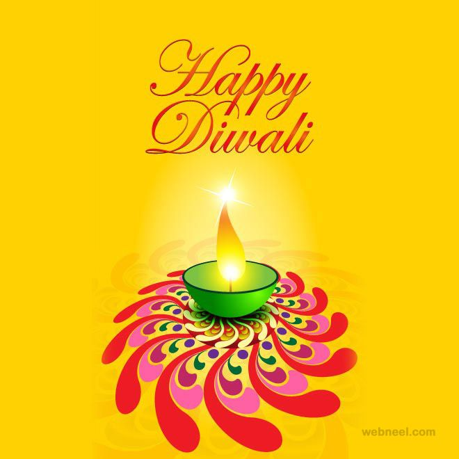 60 Beautiful Diwali Greeting cards Design and Happy Diwali Wishes. Read full article: http://webneel.com/webneel/blog/diwali-greetings-card-collection-2 | Follow us www.pinterest.com/webneel