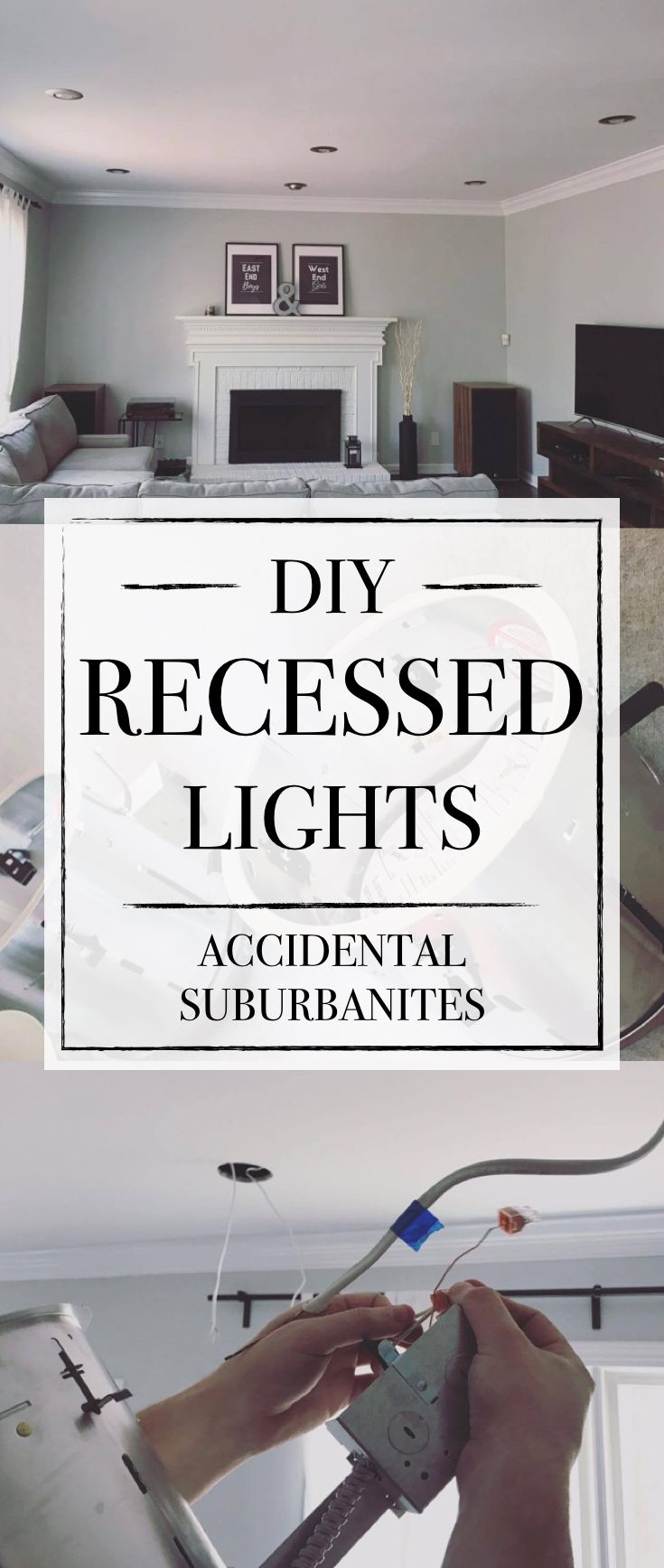 DIY Recessed Lighting - how to install recessed lights with no attic access, convert existing light, replace ceiling fan with can lights