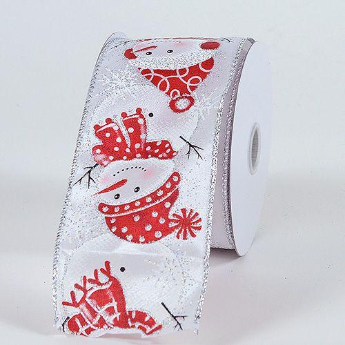 White – Christmas #Ribbon 2-1/2 Inch x 10 Yards   http://ribbons.cheap/product/white-christmas-ribbon-2-12-inch-x-10-yards-2/