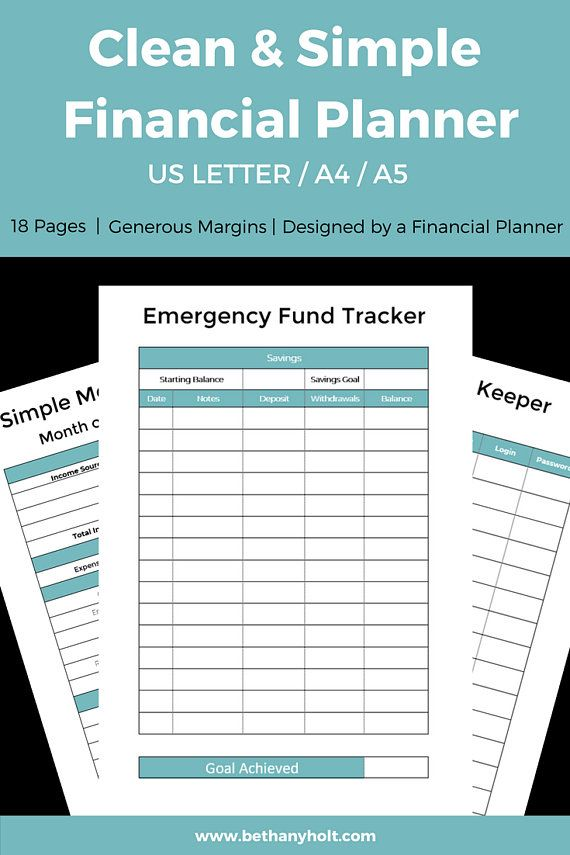 Personal Budget Planner, Financial, Budget, Printable, Planner - how to make a budget spreadsheet