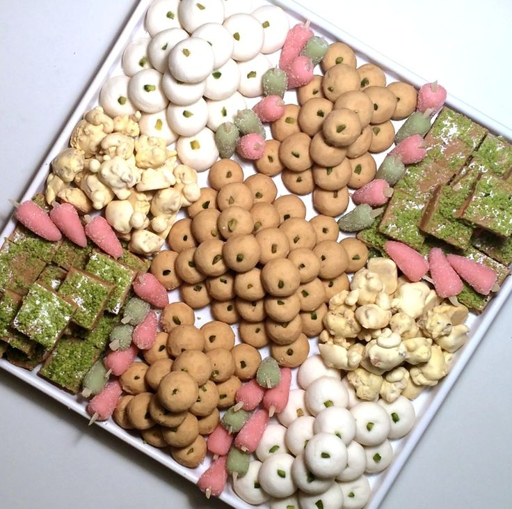 Assortment of traditional persian pastries persian