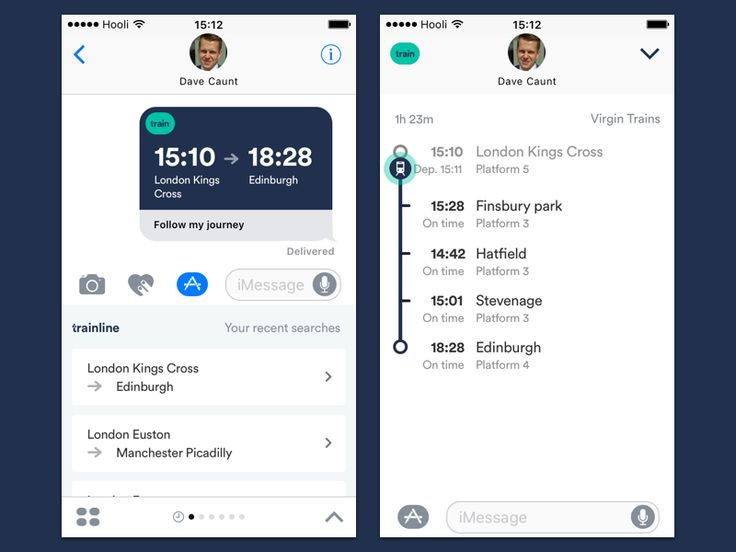 TL iMessage app - share and track your train by Ben Dunn #Design Popular #Dribbble #shots
