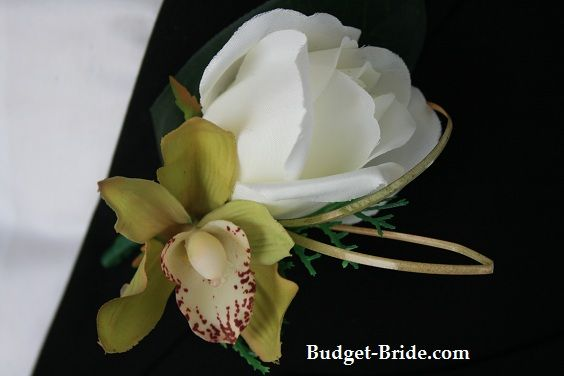 Rose and Orchid Boutonniere