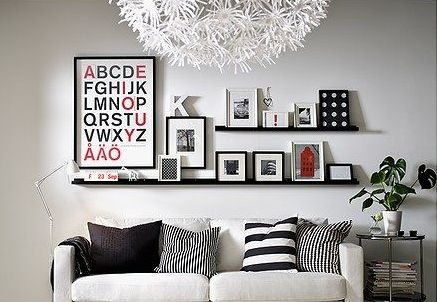 How to style IKEA RIBBA picture ledge