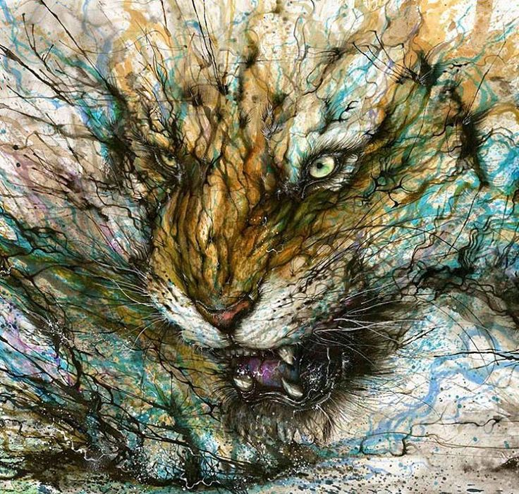 """The spirits of Earth"" ilustración de @huatunan  #ink #paper #lion #lionhead #fire #spirit #artwork #art #inspirationoftheday #nature #animalkingdom"