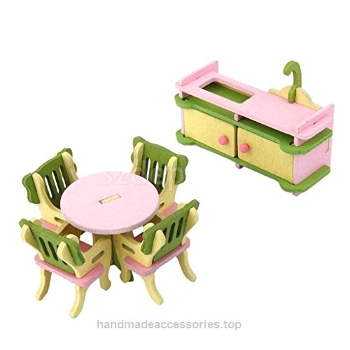 Shalleen 6pcs Wooden Doll House Furniture Dinning Room Set Kids Role Pretend Play Toy  Check It Out Now     $26.99    Description: Material:Wood Main color:Green,pink,yellow Cupboard Size(L x W x H): Approx.9*3.5*6.3cm Round Table Size ..  http://www.handmadeaccessories.top/2017/03/14/shalleen-6pcs-wooden-doll-house-furniture-dinning-room-set-kids-role-pretend-play-toy/