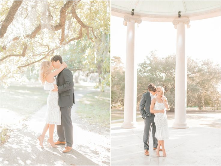 New Orleans City Park Engagement photo in the bandstand - New Orleans engagement session Arte De Vie New Orleans Photographers www.artedevie.com