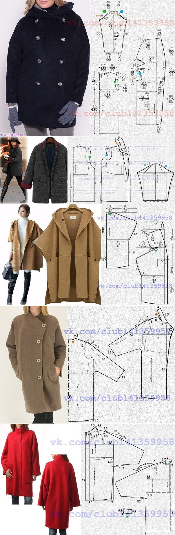 Шитье | простые выкройки | простые вещи.Весна не за горами, а значит, пора шить новое пальто!