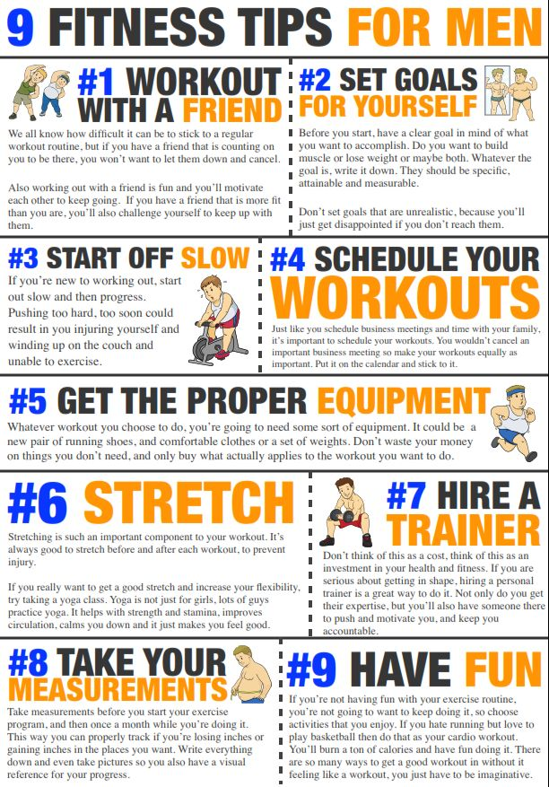 9 Fitness Tips for Men - Pinned by www.ActivaNaturals.com