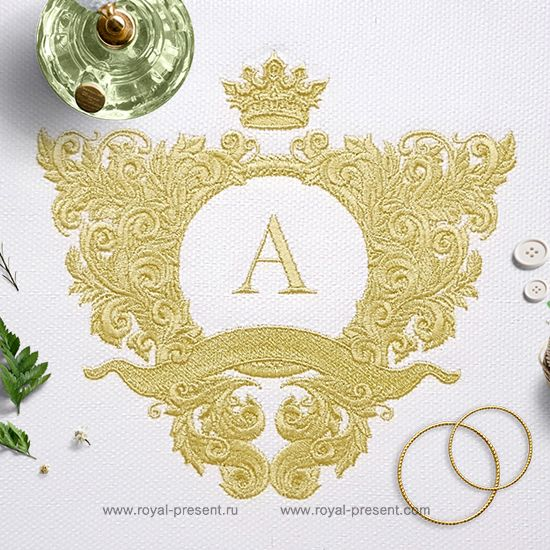 Ornate baroque frame Embroidery Design - 4 sizes