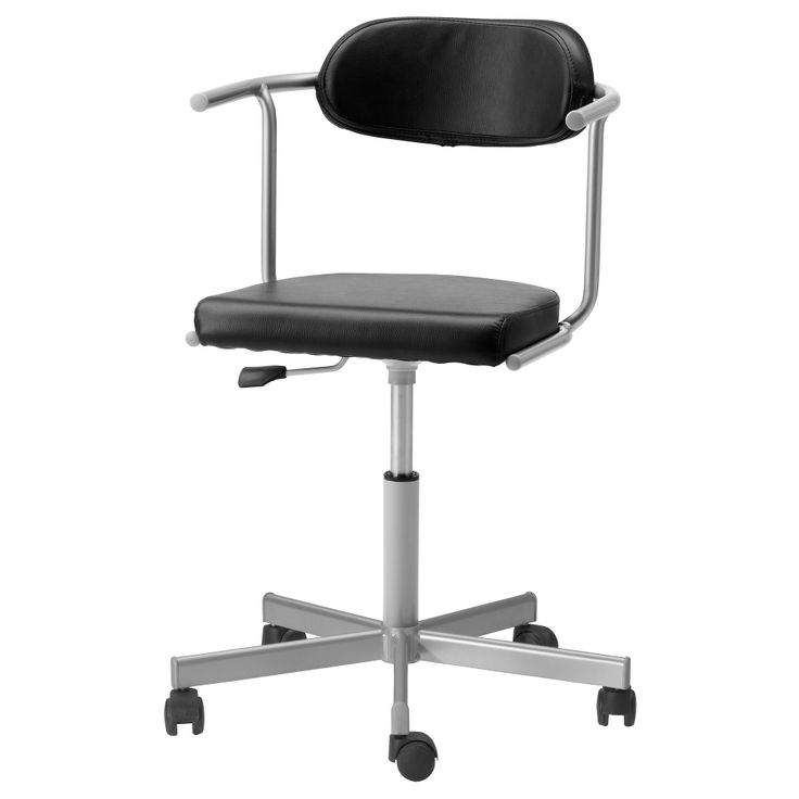 RUTGER/ JULES  Swivel chair with casters, black, silver color  $64.98