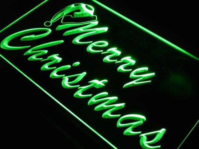 Merry Christmas Hat Home Decor Neon Light Sign