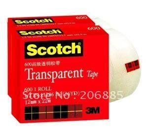 100% Оригинал 3 М 600 scotch прозрачной бопп гуммированная бумажная лента 12.7 мм * 33 М 50 шт./лот мы можем предложить вам другой размер