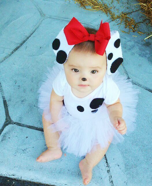 bushel peck dalmatian halloween costume tutorial infant girl halloween costumestoddler - Toddler And Baby Halloween Costume Ideas