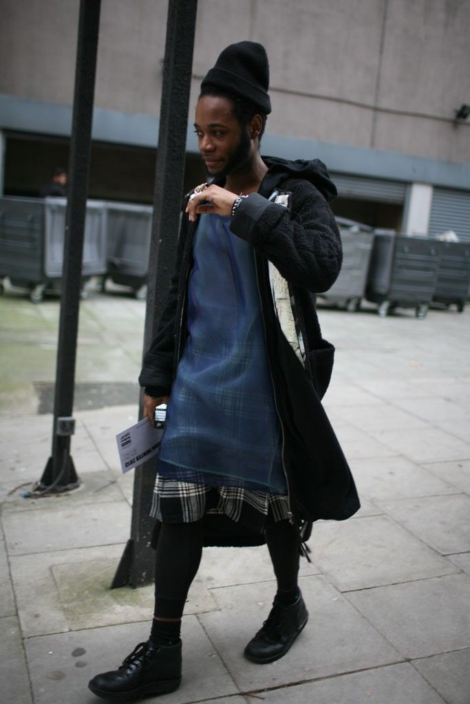 They Are Wearing: London Men's Fashion Week Fall 2013 - Slideshow - WWD.com Man Skirts--Welcome to the 90s!